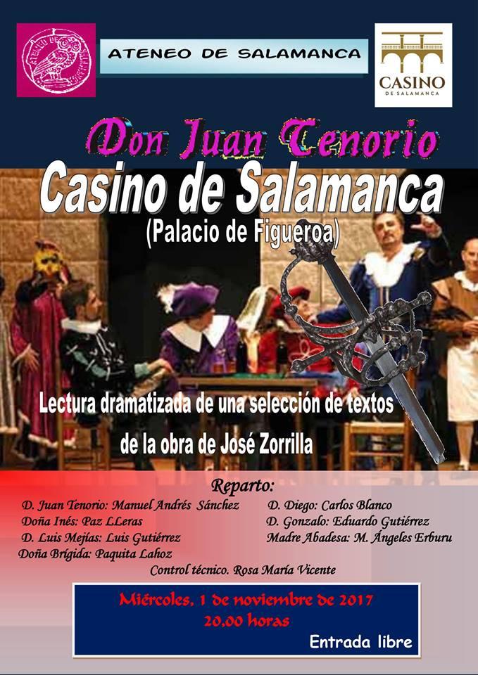 Ateneo de Salamanca Don Juan Tenorio Noviembre 2017