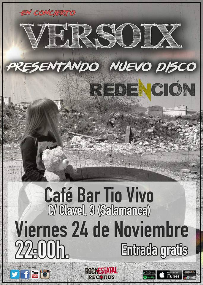 Versoix Tío Vivo Salamanca Noviembre 2017