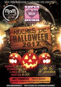 Noches de Halloween 2017 Mano a Mano + Super 8 Salamanca Octubre