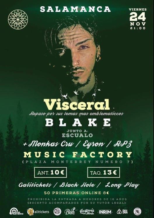 Blake Music Factory Salamanca Noviembre 2017