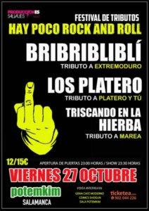 Festival de Tributos Hay poco Rock and Roll Potemkim Salamanca Octubre 2017