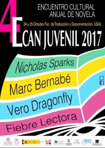 IV Encuentro Cultural Anual de Novela Juvenil ECAN Juvenil 2017 Salamanca Octubre
