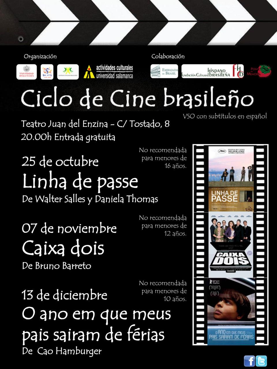 Ciclo de Cine Brasileño Centro de Estudios Brasileños Salamanca 2017