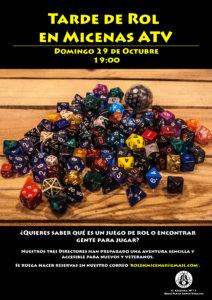 Sala Micenas Adarsa Tarde de Juegos Iniciación a juegos de Rol Salamanca Octubre 2017