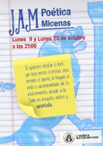 I Jam Poética Sala Micenas Adarsa Salamanca Octubre 2017
