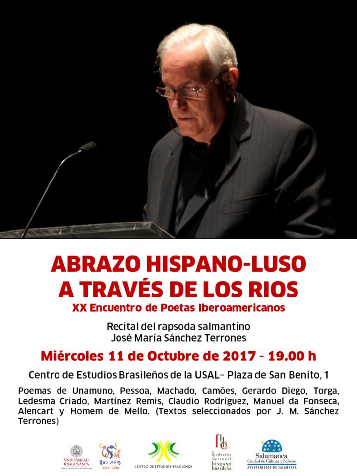 Lectura Poética Abrazo hispano luso a través de los ríos Centro de Estudios Brasileños Salamanca Octubre 2017