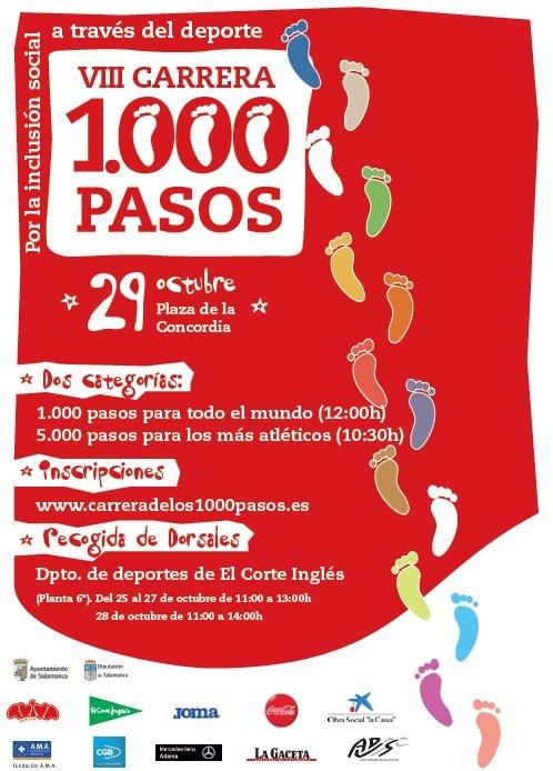 VIII Carrera de los 1.000 Pasos Aviva Salamanca Octubre 2017