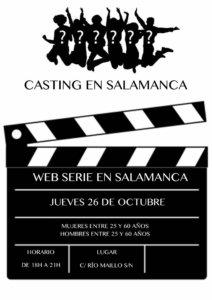 Web Serie en Salamanca Casting Octubre 2017