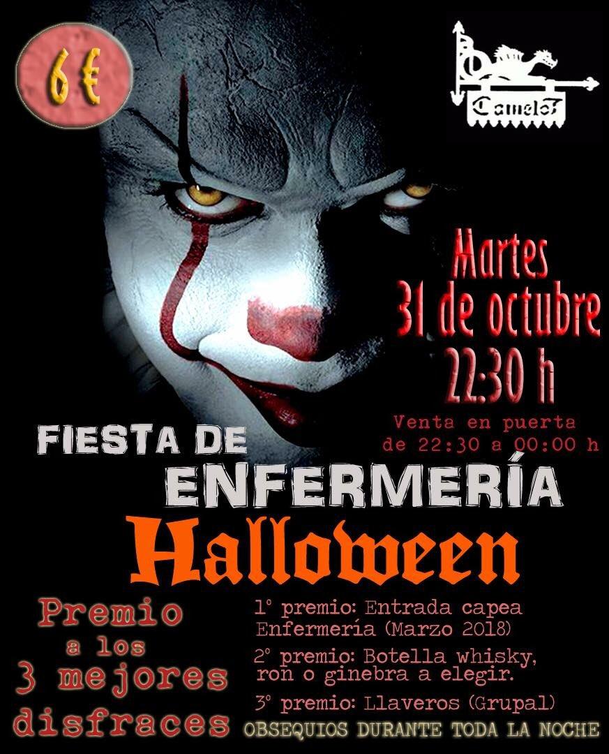 Fiesta de Enfermería Halloween Camelot Salamanca Octubre 2017