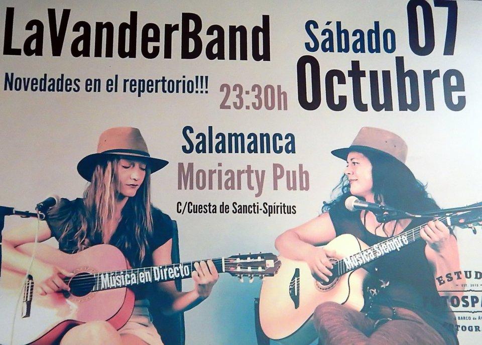 LaVanderBand Moriarty Salamanca Octubre 2017