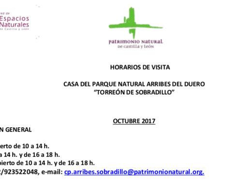 Horarios de octubre para el Torreón de Sobradillo.