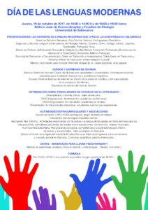 Día de las Lenguas Modernas 2017 Universidad de Salamanca Octubre