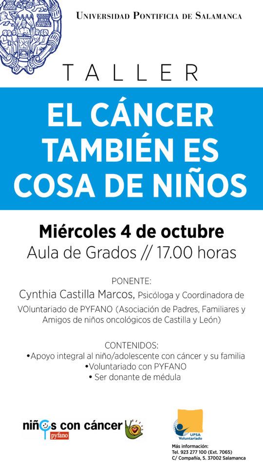 Cynthia Castilla Marcos El cáncer también es cosa de niños UPSA Salamanca Octubre 2017