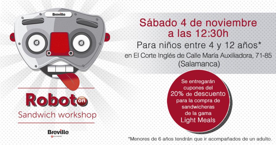 El Corte Inglés Roboto on Sandwich Workshop Salamanca Noviembre 2017