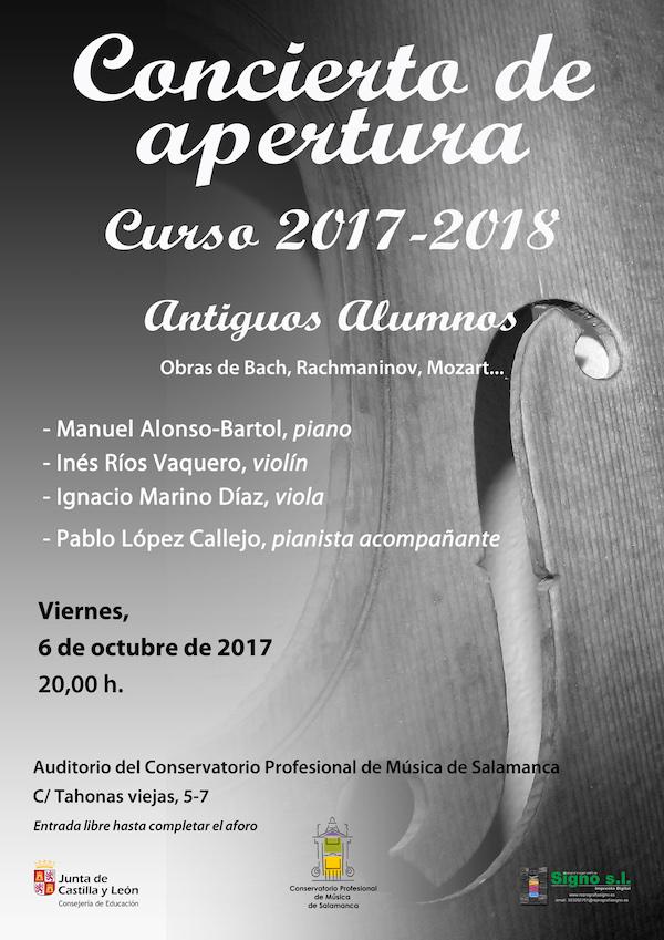 Concierto de Apertura de Curso 2017-2018 Conservatorio Profesional de Música de Salamanca Octubre 2017