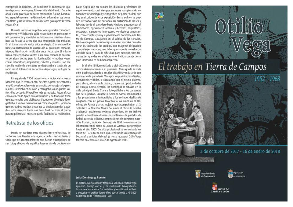 Otilio Vega. El trabajo en Tierra de Campos Filmoteca de Castilla y León Salamanca 2017-2018
