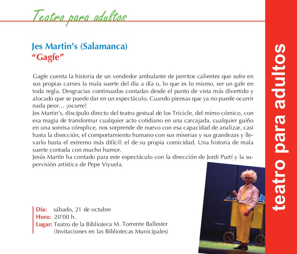 Jes Martin's Gagfe Torrente Ballester Salamanca Octubre 2017