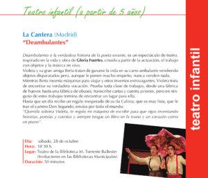 La Cantera Deambulantes Torrente Ballester Salamanca Octubre 2017