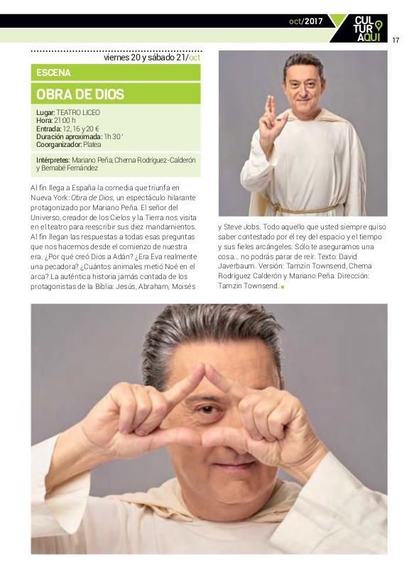 Obra de Dios Teatro Liceo Salamanca Octubre 2017