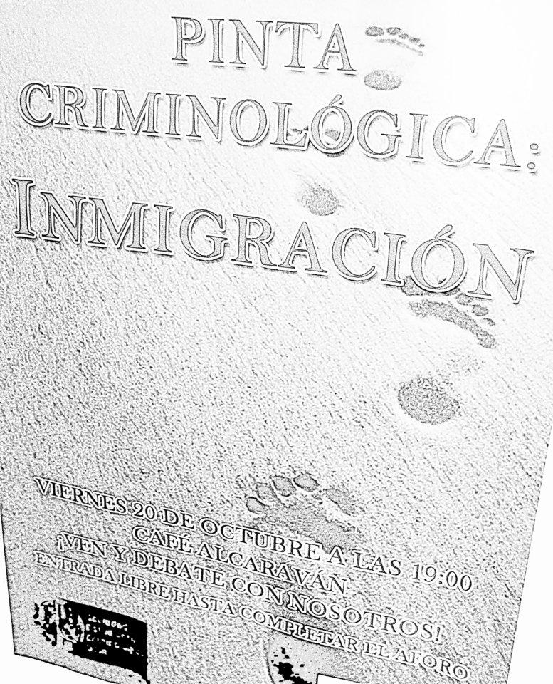 El Alcaraván Pinta Criminológica Inmigración Salamanca Octubre 2017
