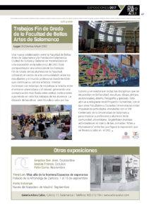 Trabajos de Fin de Grado de la Facultad de Bellas Artes de Salamanca Domus Artium 2002 DA2 Salamanca 2017-2018