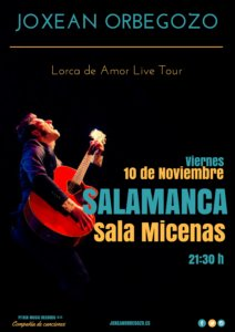 Sala Micenas Adarsa Joxean Orbegozo Lorca de amor Salamanca Noviembre 2017