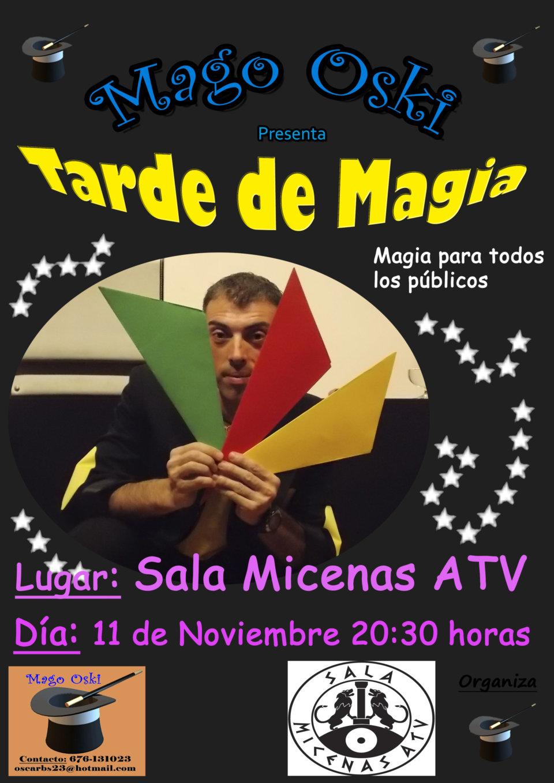 Sala Micenas Adarsa Mago Oski Tarde de magia Salamanca Noviembre 2017