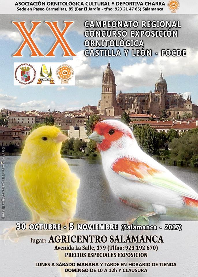 XX Campeonato Regional Concurso Exposición Ornitológica de Castilla y León - FOCDE Salamanca 2017