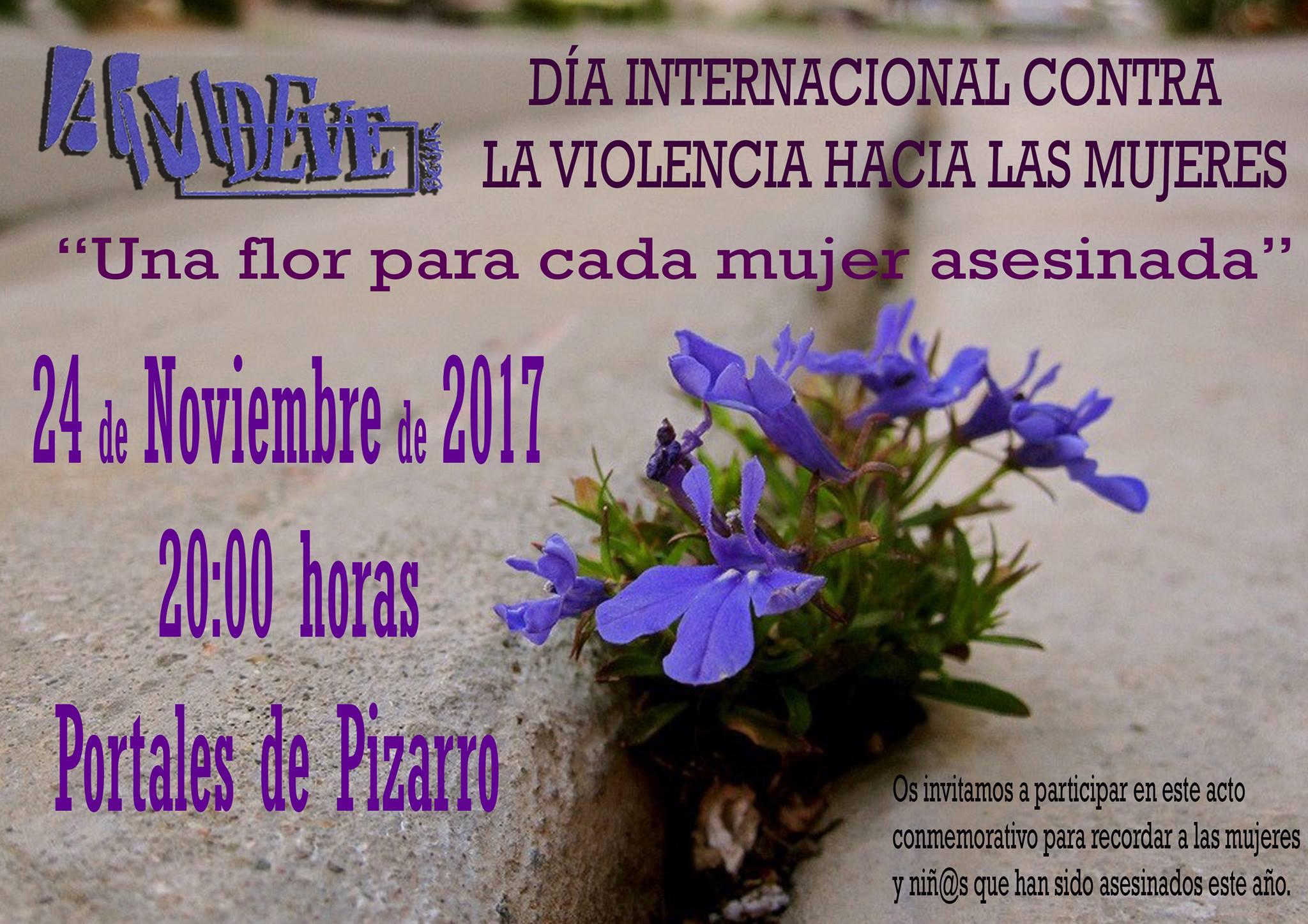 Día Internacional contra la Violencia hacia las Mujeres AMDEVE Béjar Noviembre 2017