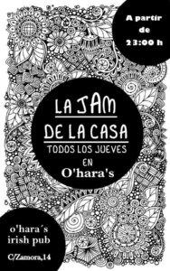 O'Hara's La Jam de la Casa Salamanca 2017-2018