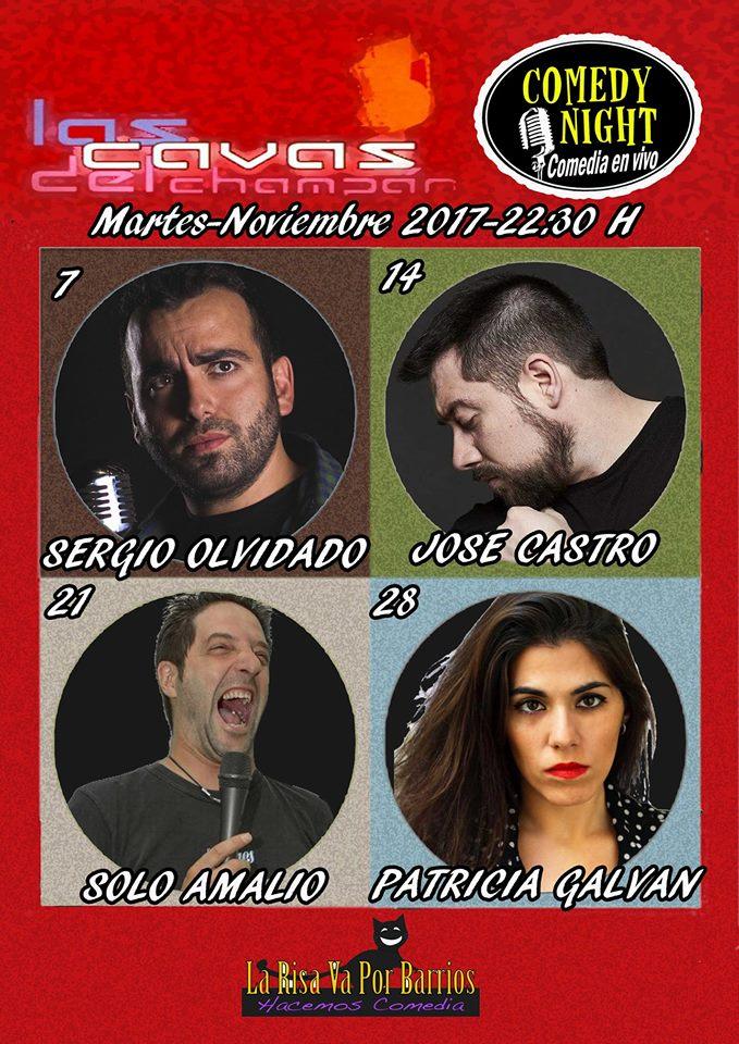 Comedy Night Las Cavas del Champán Noviembre 2017