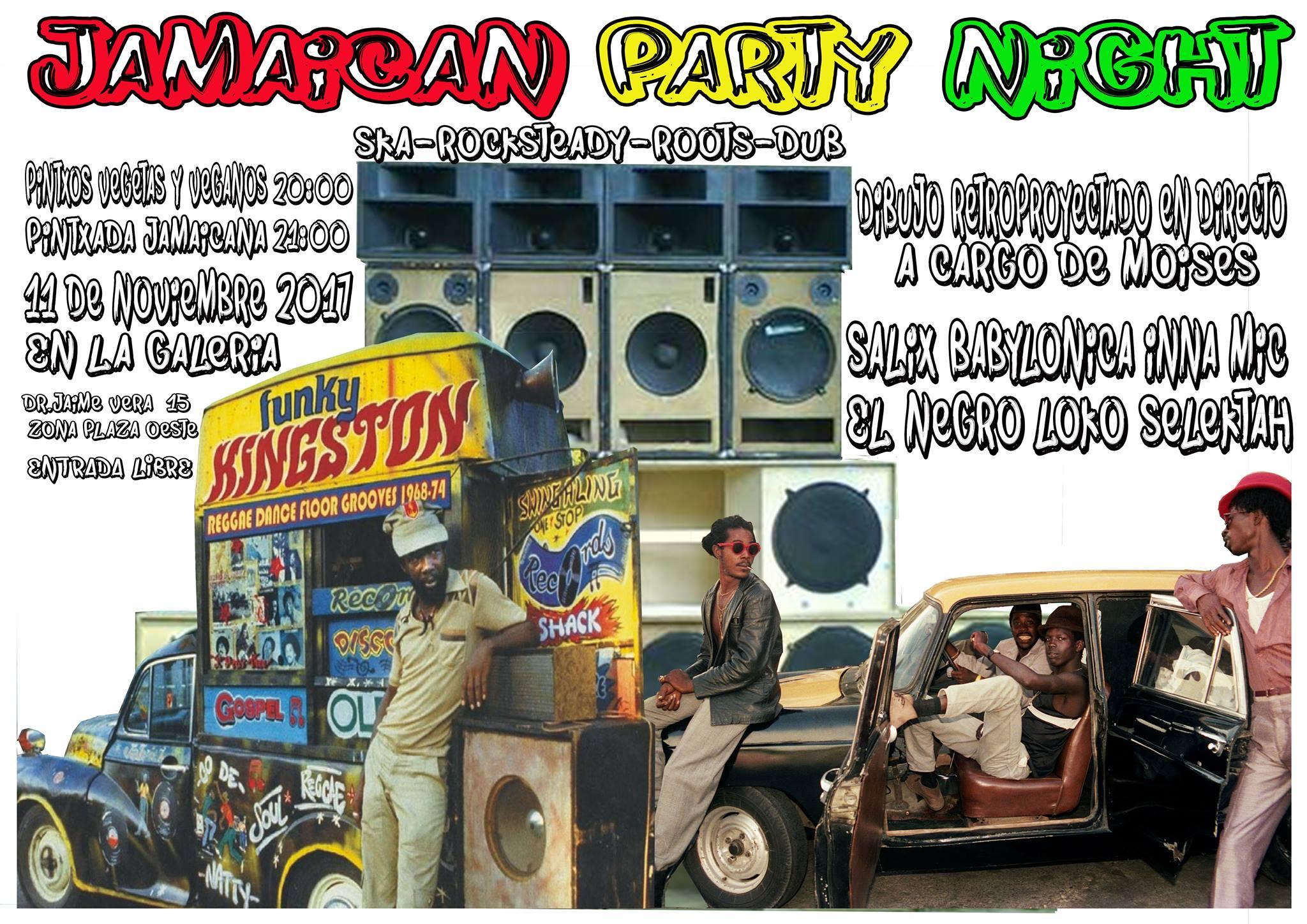 La Galería Jamaican Party Night Salamanca Noviembre 2017
