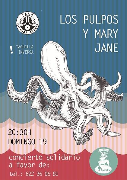 Sala Micenas Adarsa Los Pulpos & Mary Jane Salamanca Noviembre 2017
