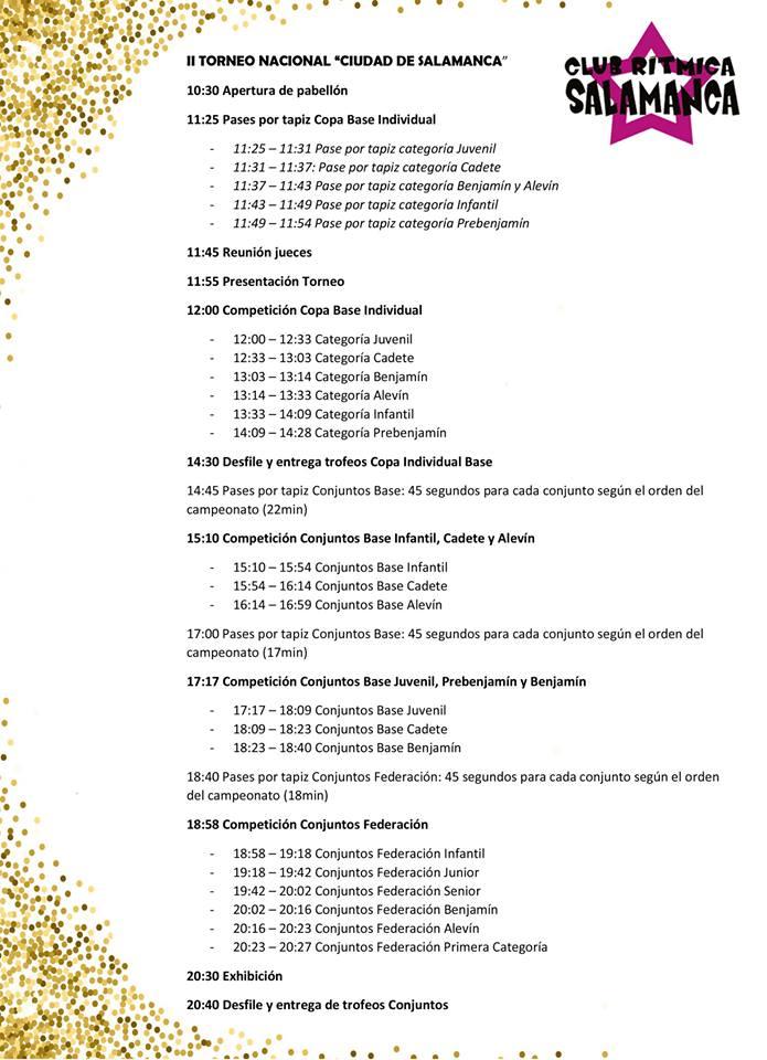 II Torneo Nacional de Conjuntos y Copa Base de Gimnasia Rítmica Ciudad de Salamanca Noviembre 2017