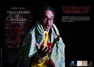 Teatro Liceo Gabriel Calvo Trovadores y juglares Salamanca Noviembre 2017