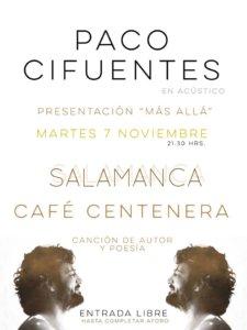 Centenera Paco Cifuentes Más allá Salamanca Noviembre 2017