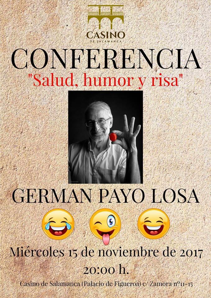 Casino de Salamanca Germán Payo Losa Salud, humor y risa Noviembre 2017