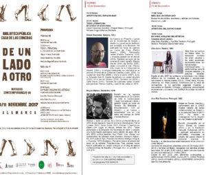 Casa de las Conchas De un lado a otro Miradas contemporáneas VII Salamanca Noviembre 2017 Poemargen