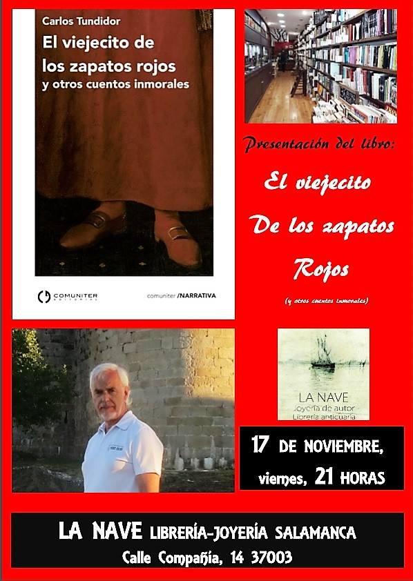 La Nave Carlos Tundidor El viejecito de zapatos rojos y otros cuentos inmorales Salamanca Noviembre 2017