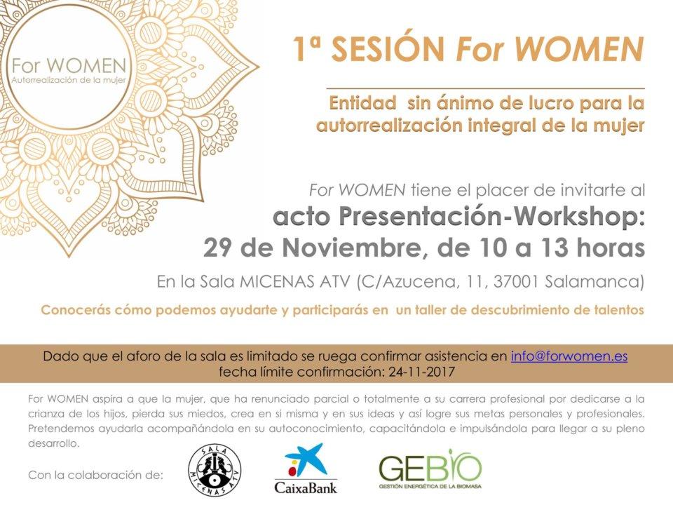 Sala Micenas Adarsa Primera Sesión For Women Salamanca Noviembre 2017