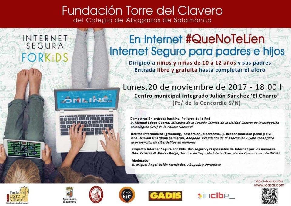 Julián Sánchez El Charro En Internet #QueNoTeLíen Internet Seguro para padres e hijos Salamanca Noviembre 2017