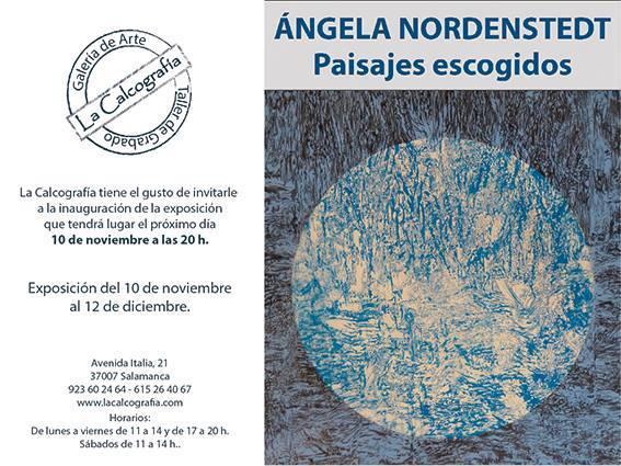 La Calcografía Ángela Nordenstedt Paisajes escogidos Salamanca 2017
