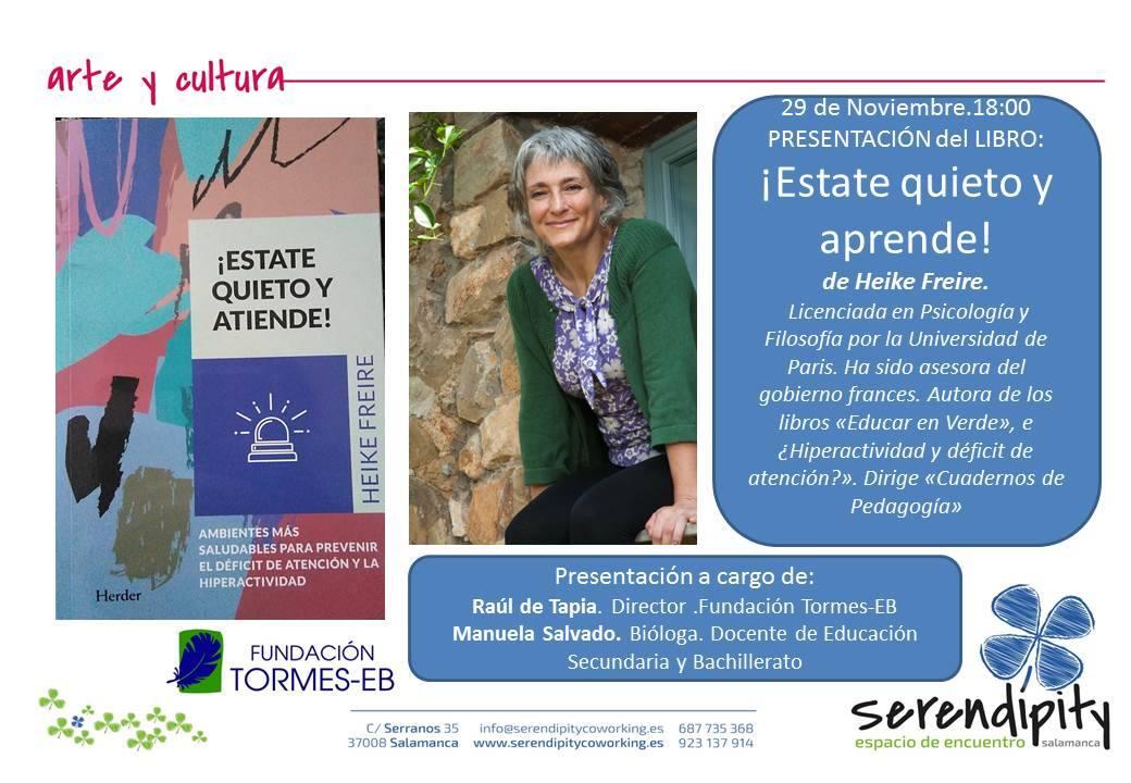 Serendípity Estate quieto y aprende Salamanca Noviembre 2017