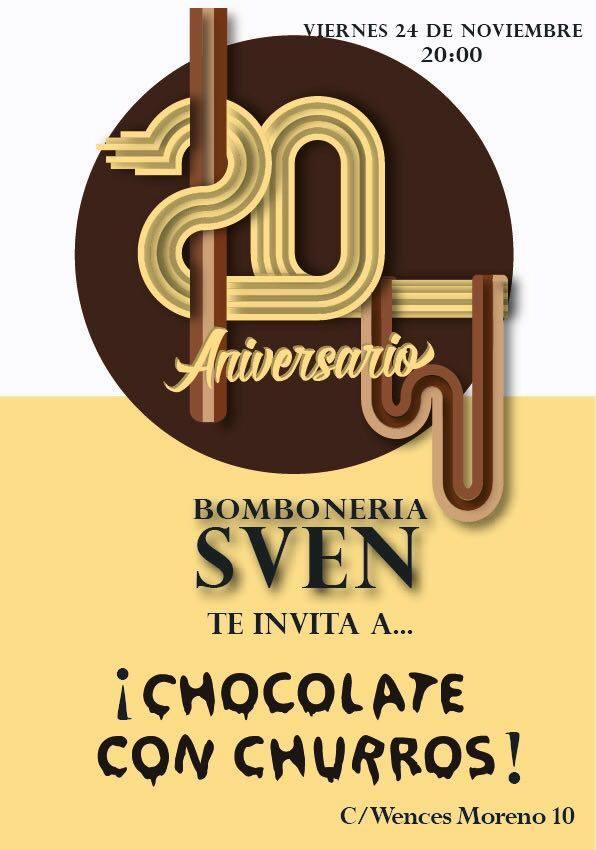 Bombonería Sven XX Aniversario Salamanca Noviembre 2017