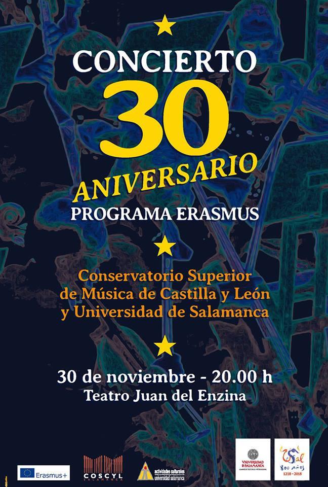 Aula Teatro Juan del Enzina Concierto Programa Erasmus 30 Aniversario Salamanca Noviembre 2017