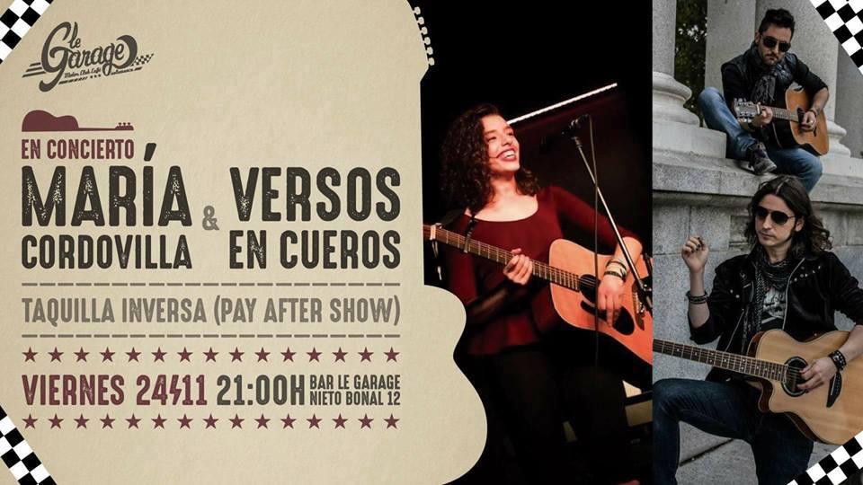Le Garage MCC María Cordovilla & Versos en Cueros Salamanca Noviembre 2017