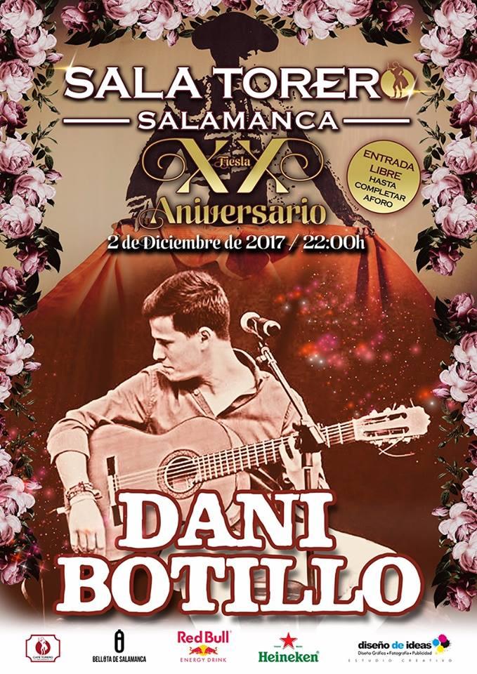 Sala Torero Dani Botillo Salamanca Diciembre 2017