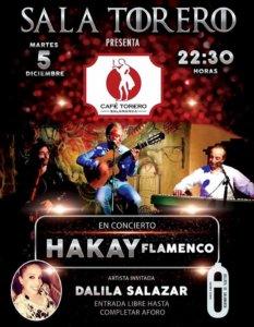 Sala Torero Hakay Flamenco Salamanca Diciembre 2017