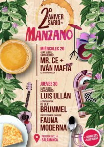 Bar Manzano II Aniversario Salamanca Noviembre 2017
