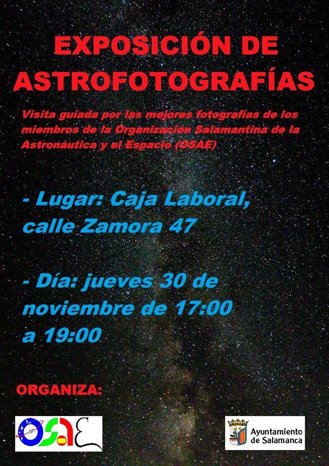 OSAE Exposición de Astrofotografías Salamanca Diciembre 2017